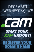 Get your .CAM domain as low as $29,99